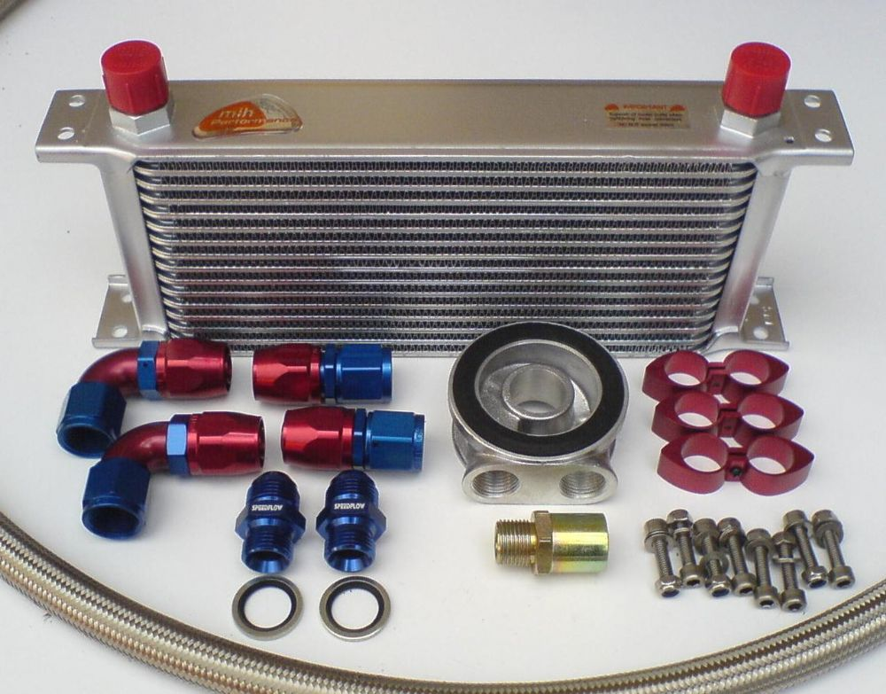 Engine Oil Cooler : Engine oil cooler kit with mocal speedflow parts